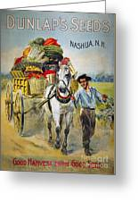 Seed Company Poster, C1880 Greeting Card
