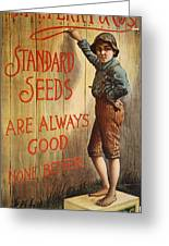 Seed Company Poster, C1890 Greeting Card