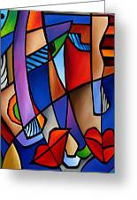 Seeing Sounds - Abstract Pop Art By Fidostudio Greeting Card by Tom Fedro - Fidostudio