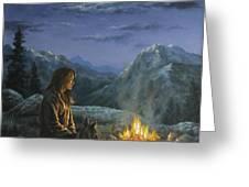 Seeking Solace Greeting Card by Kim Lockman