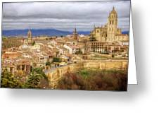 Segovia Cathedral View Greeting Card
