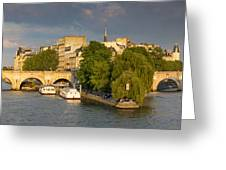 Seine Pano II Greeting Card