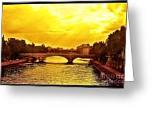 Seine View Greeting Card