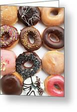 Selection Of Doughnut Greeting Card