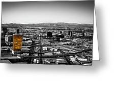 Selective Color Trump Hotel Greeting Card