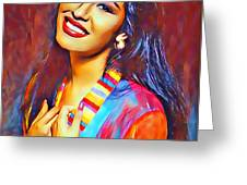 Selena Queen Of Tejano  Greeting Card