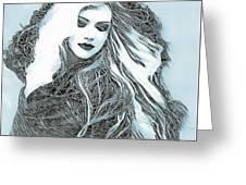 Selenium Blonde Greeting Card