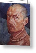 Self 2 1926-1927 Kuzma Sergeevich Petrov-vodkin Greeting Card