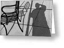 Self Portrait - Cafe Shadows Painting Greeting Card