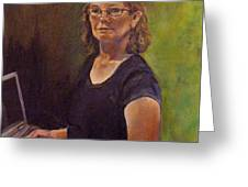 Self Portrait After Sofonisba Greeting Card