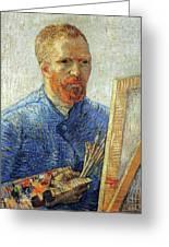 Self Portrait As An Artist Greeting Card