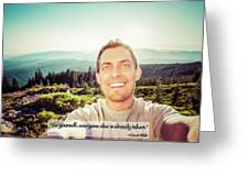 Self Portrait From A Mountain Top Greeting Card
