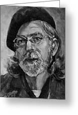Self Portrait In Grey Greeting Card