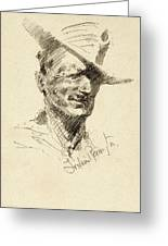 Self Portrait Of Frederic Remington Greeting Card
