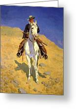 Self Portrait On A Horse 1890 Greeting Card