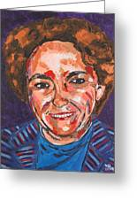 Self-portrait With Blue Jacket Greeting Card