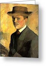 Self Portrait With Hat Greeting Card
