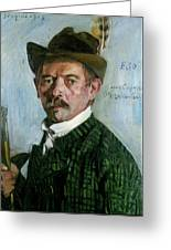 Self Portrait With Tyrolean Hat Greeting Card