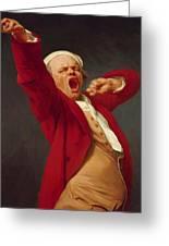 Self Portrait Yawning 1783 Greeting Card