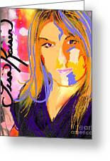 Self Portraiture Digital Art Photography Greeting Card