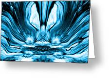 Self Reflection - Blue Greeting Card