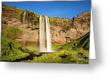 Seljalandsfoss In Iceland Greeting Card