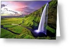 Seljalandsfoss Waterfall Greeting Card