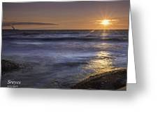 Selkirk Shores Sunset Greeting Card
