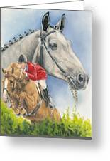 Selle Francaise Greeting Card