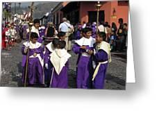 Semana Santa Procession II Greeting Card by Kurt Van Wagner