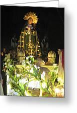 Semana Santa Procession Night Greeting Card