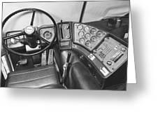 Semi-trailer Cab Interior Greeting Card