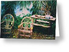 Seminole Indian Made Outdoor Furniture Greeting Card