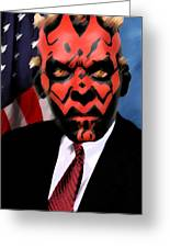 Senator Darth Maul Greeting Card