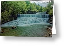 Seneca Mills Waterfall Greeting Card
