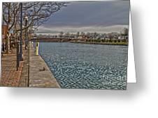 Seneca Falls Waterfront Greeting Card