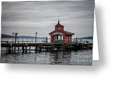 Seneca Lake Pier Greeting Card