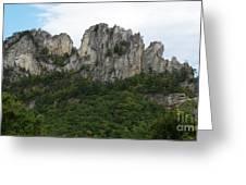 Seneca Rocks Wv Greeting Card