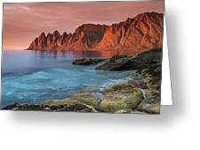 Senja Red Greeting Card