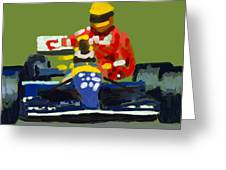 Senna And Mansell Greeting Card