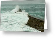 Sennen Cove Breakwater Greeting Card