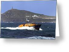Sennen Cove Lifeboat Greeting Card