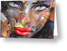 Sensual Eyes Autumn Greeting Card