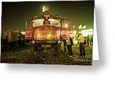 Sentinel Steam Bus By Night  Greeting Card