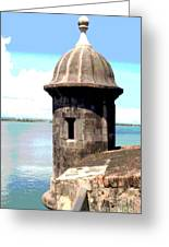 Sentry Box In El Morro Greeting Card
