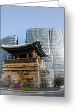Seoul, Old And New Greeting Card