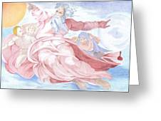 Separation Of The Planets Sistine Chapel Michelangelo Greeting Card