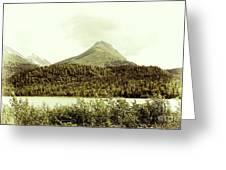 Sepia Alaska  Greeting Card