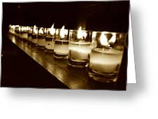 Sepia Candles Greeting Card