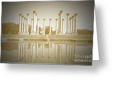 Sepia Columns Greeting Card